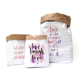 Paperbag Love set van 3