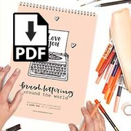 PDF WORKSHEETS I Love You Lettering Special